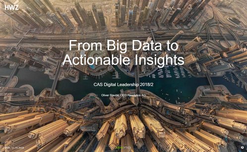 From Big Data to Actionable Insights